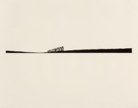 Ed Ruscha (b. 1937) Hollywood, 1981 Ink on paper 23 x 29 inches (58.4 x 73.7 cm) (sheet) Signe