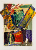 Post-War & Contemporary:Abstract Expressionism, Paul Jenkins (1923-2012). Portrait New York New York, 1981.Screenprint with acrylic on paper. 46 x 34 inches (116.8 x 8...