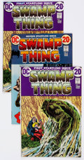 Bronze Age (1970-1979):Horror, Swamp Thing Group of 17 (DC, 1972-74) Condition: Average VF-....(Total: 17 Comic Books)