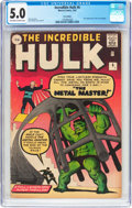 Silver Age (1956-1969):Superhero, The Incredible Hulk #6 UK Edition (Marvel, 1963) CGC VG/FN 5.0 Off-white to white pages....