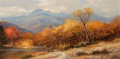 Paintings, Robert William Wood (American, 1889-1979). The Chimney Tops. Oil on canvas. 30 x 60 inches (76.2 x 152.4 cm). Signed low... (Total: 2 Items)