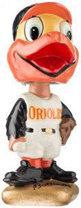 Baseball Collectibles:Others, 1967-72 Baltimore Orioles Gold Base Nodder. ...