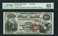 National Bank Notes:Wisconsin, Berlin, WI - $10 1882 Brown Back Fr. 485 The First NB Ch. # (M)4620. ...