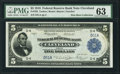 Low Serial Number D51A Fr. 785 $5 1918 Federal Reserve Bank Note PMG Choice Uncirculated 63