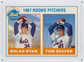 Baseball Collectibles:Photos, Nolan Ryan and Tom Seaver Dual Signed Oversized Rookie Card....