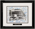 Baseball Collectibles:Photos, Brooklyn Dodgers Multi-Signed Ebbets Field Photograph. ...