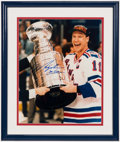 Hockey Collectibles:Photos, Mark Messier Signed Oversized Photograph....