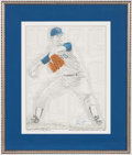 Baseball Collectibles:Others, Nolan Ryan Signed Lithograph Print. ...