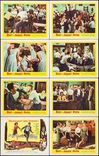"""Riot in Juvenile Prison (United Artists, 1959). Lobby Card Set of 8 (11"""" X 14""""). Exploitation. ... (Total: 8 I..."""