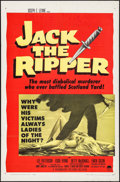 "Movie Posters:Mystery, Jack the Ripper (Paramount, 1960). One Sheet (27"" X 41"") &Lobby Card Set of 8 (11"" X 14""). Mystery.. ... (Total: 9 Items)"