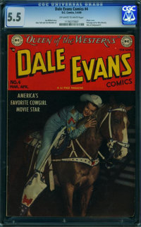 Dale Evans Comics #4 (DC, 1949) CGC FN- 5.5 Off-white to white pages