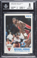 """Basketball Cards:Singles (1980-Now), 1985 Star Co. """"Rookie of The Year"""" Michael Jordan #1 BGS NM-MT 8...."""