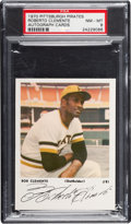 Baseball Cards:Singles (1970-Now), 1970 Pittsburgh Pirates Roberto Clemente (Autograph Cards) PSA NM-MT 8....