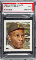 Baseball Cards:Singles (1960-1969), 1964 Wheaties Stamps Roberto Clemente PSA Mint 9....