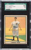 Baseball Cards:Singles (1940-1949), 1941 Play Ball Jimmie Foxx (Error Back) #13 SGC 84 NM 7....