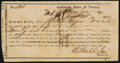 Confederate Notes:Group Lots, Athens, GA Interim Depository Receipt $2100 September 5, 1864Tremmel GA-8.. ...