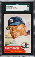 Baseball Cards:Singles (1950-1959), 1953 Topps Mickey Mantle (SP) #82 SGC 86 NM+ 7.5....
