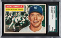 Baseball Cards:Singles (1950-1959), 1956 Topps Mickey Mantle #135 SGC 88 NM/MT 8....