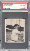 Baseball Cards:Singles (1940-1949), 1948 Bowman Ralph Kiner #3 PSA NM-MT+ 8.5....