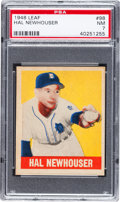 Baseball Cards:Singles (1940-1949), 1948 Leaf Hal Newhouser #98 PSA NM 7 - Scarce Short Print....