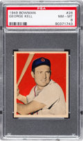 Baseball Cards:Singles (1940-1949), 1949 Bowman George Kell #26 PSA NM-MT 8....