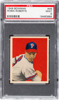 Baseball Cards:Singles (1940-1949), 1949 Bowman Robin Roberts #46 PSA Mint 9 - Only One Higher....