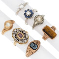 Estate Jewelry:Rings, Diamond, Multi-Stone, Hardstone, Gold Rings. ... (Total: 7 Items)