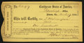 Confederate Notes:Group Lots, Atlanta, GA Interim Depository Receipt $100 March 19, 1864 TremmelGA-20.. ...