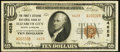 National Bank Notes:North Carolina, Elizabeth City, NC - $10 1929 Ty. 2 The First & Citizens NB Ch. # 4628. ...