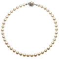 Estate Jewelry:Pearls, Cultured Pearl, Silver Necklace. . ...