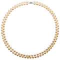 Estate Jewelry:Pearls, Cultured Pearl, White Gold Necklace. . ...
