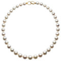 Estate Jewelry:Pearls, South Sea Cultured Pearl, Silver Necklace. . ...