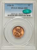 Lincoln Cents: , 1956-D 1C MS66 Red PCGS. CAC. PCGS Population: (1914/73). NGC Census: (3071/103). Mintage 1,098,201,088. ...