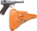 Handguns:Semiautomatic Pistol, German Mauser S/42 Code Luger Semi-Automatic Pistol with LeatherHolster.... (Total: 2 )