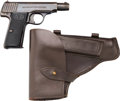 Handguns:Semiautomatic Pistol, Carl Walther Semi-Automatic Pistol with Leather Holster.... (Total: 2 Items)