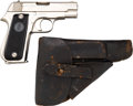 Handguns:Semiautomatic Pistol, Hendaye Unique Semi-Automatic Holster with Leather Holster.... (Total: 2 Items)