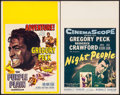 """Movie Posters:War, The Purple Plain & Other Lot (United Artists, 1955). WindowCards (2) (14"""" X 22""""). War.. ... (Total: 2 Items)"""