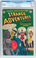Golden Age (1938-1955):Science Fiction, Strange Adventures #14 (DC, 1951) CGC VF/NM 9.0 Off-white to whitepages....