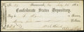 Confederate Notes:Group Lots, Confederate States Depositary Check $25 July 25, 1862.. ...
