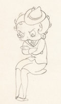 Animation Art:Production Drawing, Judge for a Day Betty Boop Animation Drawing (Max Fleischer,1935)....