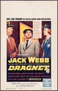 """Movie Posters:Crime, Dragnet (Warner Brothers, 1954). Window Card (14"""" X 22""""). Crime....."""
