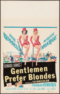 "Movie Posters:Musical, Gentlemen Prefer Blondes (20th Century Fox, 1953). Window Card (14"" X 22""). Musical.. ..."
