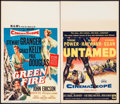 "Movie Posters:Adventure, Green Fire & Other Lot (MGM, 1954). Window Cards (2) (14"" X22""). Adventure.. ... (Total: 2 Items)"