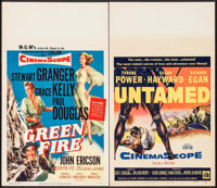 """Green Fire & Other Lot (MGM, 1954). Window Cards (2) (14"""" X 22""""). Adventure. ... (Total: 2 Items)"""