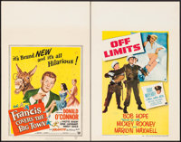 """Francis Covers the Big Town & Other Lot (Universal International, 1953). Window Cards (2) (14"""" X 22"""")..."""