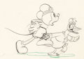 Animation Art:Production Drawing, The Dognapper Mickey Mouse and Donald Duck Animation Drawing(Walt Disney, 1934)....