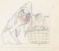 Animation Art:Production Drawing, Snow White and the Seven Dwarfs Old Hag with Apples Animation Drawing (Walt Disney, 1937)....