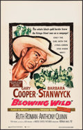 "Movie Posters:Action, Blowing Wild (Warner Brothers, 1953). Window Card (14"" X 22"").Action.. ..."