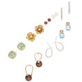 Estate Jewelry:Earrings, Diamond, Multi-Stone, Freshwater Cultured Pearl, Gold Earrings. .... (Total: 7 Items)