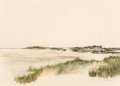 Works on Paper, Scott Gentling (American, 1942-2011). Seaside Dunes, 1963. Watercolor on paper. 14 x 19-1/2 inches (35.6 x 49.5 cm) (sig...